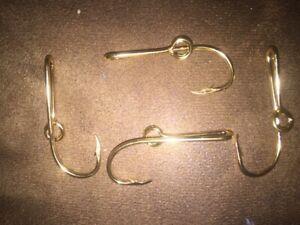 4-EAGLE CLAW Original 24K Gold-Plated Fish Hook Hat Baseball Cap Pin Money Clip