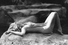 Jean Harlow iconic pose naked on rock 18x24 Poster