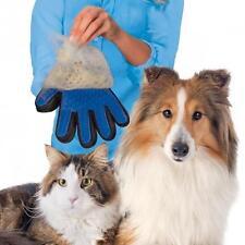 True Touch Deshedding Brush Glove Dog Cat Gentle Efficient Massage Grooming AU H