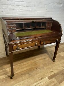 Antique Edwardian Style Mahogany Desk Tambour Front  . Delivery Available