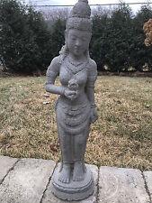 Standing Syiva God carved Lava Stone buddha GARDEN STATUE