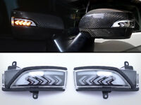 Sequential Turn Signal LED Light Side Door Mirror Smoke For Subaru Forester