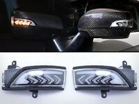 Sequential Turn Signal LED Light Side Door Mirror Smoke For 15-19 Subaru WRX STi