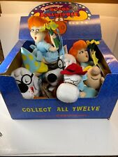 Vintage Adventures Of Rocky And Bullwinkle And Friends Lot Of 7 Plush With Box
