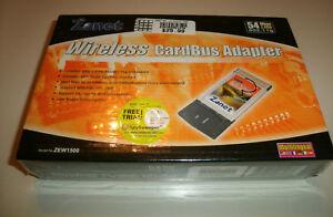 NEW ZONET ZEW1500 2.4GHZ/54Mb, 802.11G WIRELESS PCMCIA ADAPTER. FACTORY SEALED