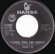 Boney M ORIG GER 45 Young free & single EX '85 Hansa HSA016 Disco Club Dance
