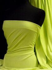 Flo Lime Green Single Jersey Knit 100% Light Cotton T-Shirt Fabric Q1249 FLM