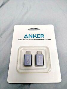 Anker USB-C to USB 3.0 Female Adapter (2 Pack)