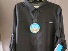 NWT Columbia Meadowgate OMNI-SHADE UPF 40 Long Sleeve Shirt Color Gray Size L