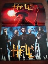 More details for hell autographed/signed promo flyer human remains metal band