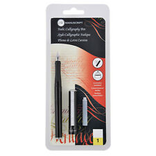 MANUSCRIPT ITALIC CALLIGRAPHY FOUNTAIN PEN MEDIUM 1.1mm NIB SET WITH INK MC1605