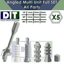 5 X Dental Full Set Angled Multi Unit All Parts Regular Platform Top Quality
