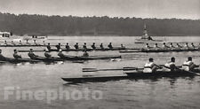 1936 Vintage Germany OLYMPICS, U.S.A. Sculling Rowing Race 11X14 Photo Art WOLFF