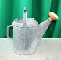 Vintage 10 Quart Galvanized Tin Watering Can ~ Red White Sprinkling Spout
