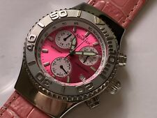 aquamarin sea star chronograph calendar pink face ladies wristwatch 🇮🇹 🇨🇭