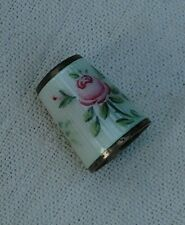 Vintage David Anderson DA Norway Sterling Silver Enamel flowers roses thimble