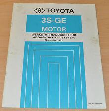 Werkstatthandbuch Toyota 3S-GE Motor Abgaskontrollsystem 11/ 1993