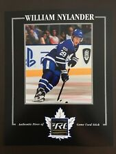 WILLIAM NYLANDER TORONTO MAPLE LEAFS GAME USED STICK 8 X 10 COA