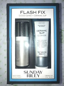 NIB SUNDAY RILEY Flash Fix Set Good Genes & Ceramic Slip Cleanser