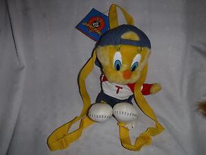 "Looney Tunes Tweety Bird Backpack 15"" Plush Soft Toy Stuffed Animal"