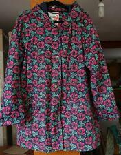 SEASALT TUPPENCE MAC TIN CLOTH WEATHER RESISTANT ORGANIC COTTON COAT Size 14