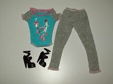 Barbie Doll Clothes Fashionistas Sporty Ballet Dance Rehearsal Top Leggings Shoe