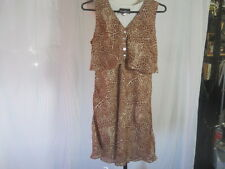 Sleeveless Leopard Skin Dress by POSITIVE ATTITUDE Petite Size 8 - EXCELLENT!