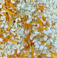 Biodegradable Orange IVORY Wedding Confetti NATURAL Petals DYE-FREE 7 Guests