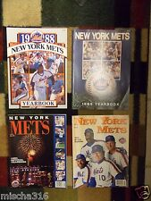 4 New York Mets Yearbooks, 1988, 1989, 1991, 1992, ~ Strawberry, Carter, Shea ~