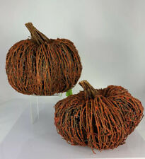 Raz Imports Country Style Pumpkins, Set Of 2, Thanksgiving Fall Decor