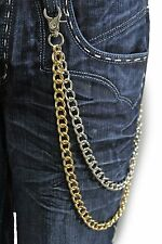 Men Gold Silver Wallet Chains Metal Fashion Jewelry KeyChain Biker Strong Links