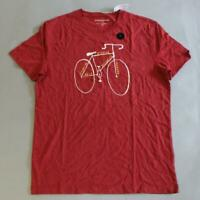 Banana Republic Men's Short Sleeve Graphic T-Shirt NB7 Red Medium NWT