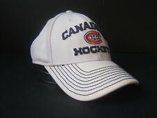 Montreal Canadiens Reebok L/XL Fitted Hat White NHL Hockey Cap