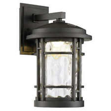 "ALTAIR 9"" LED OUTDOOR WALL LANTERN, BURNISHED BRONZE FINISH, NEW o/b"