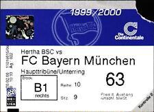 Ticket BL 1999/2000 Hertha BSC - FC Bayern München, 18.03.2000