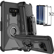 For Samsung Galaxy Note 9 8 S8 S9 Plus S7 Case Cover Belt Clip Screen Protector