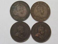 4 Canadian Large Cent Coins (VF - Most Crown): 1902 (2), 1903 & 1906. Edward VII