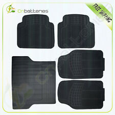 5pc All Weather Rubber For Aston Martin SUV Floor Mat Black 2 Row & Trunk Black