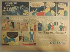 "Ovaltine Drink Ad: ""Promotes Sound Sleep!""  from 1930's-1950's 11 x 15 inches"