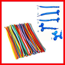 25 x DIY Magic Long Animal Tying Making Balloons Twist Birthday Party Modelling