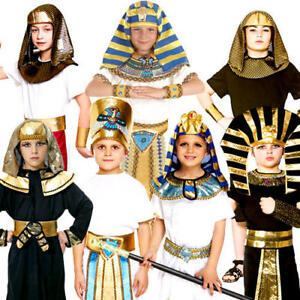 Egyptian Boys Fancy Dress Historic Ancient Egypt Pharaoh Childrens Kids Costume
