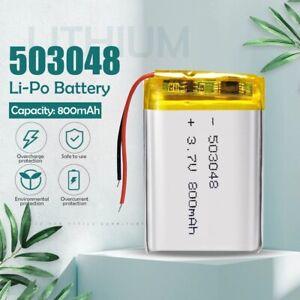 3.7V 800mAh 503048 053048 Li-ion polymer Battery MP3 MP4 GPS wireless stereo