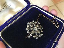 Copo de Nieve de diamante Victoriano/Starburst Broche/colgante de oro en caja Sin precio de reserva