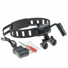 Dental Medical Wireless 5w Led Headlight 25x Binocular Loupes Black Us Stock