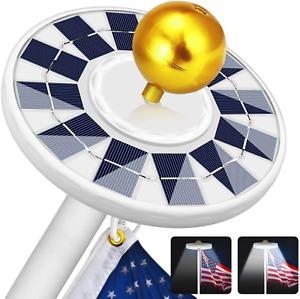 Zioti Solar Flag Pole Light Super Bright, 2500mAh Solar 128 LED Light