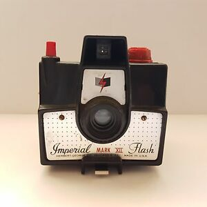 Vintage Black Imperial Mark XII Flash Camera by Herbert George Chicago 6 ILL