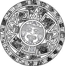 Incorniciato stampa-Calendario Azteco PIETRA, SUN Stone, Stone dei cinque Epoche (immagine)