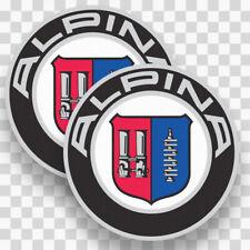 2x ALPINA Stickers Decals Vinyl Logo BMW Car Racing Sport Performance Emblem