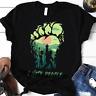 Camping Bigfoot Middle Finger Footprint I Hate People Alien Unisex Gift T-Shirt