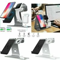 3in1 Qi Charging Dock Stand Charger Station for Watch iPhone X 8+ Headphones